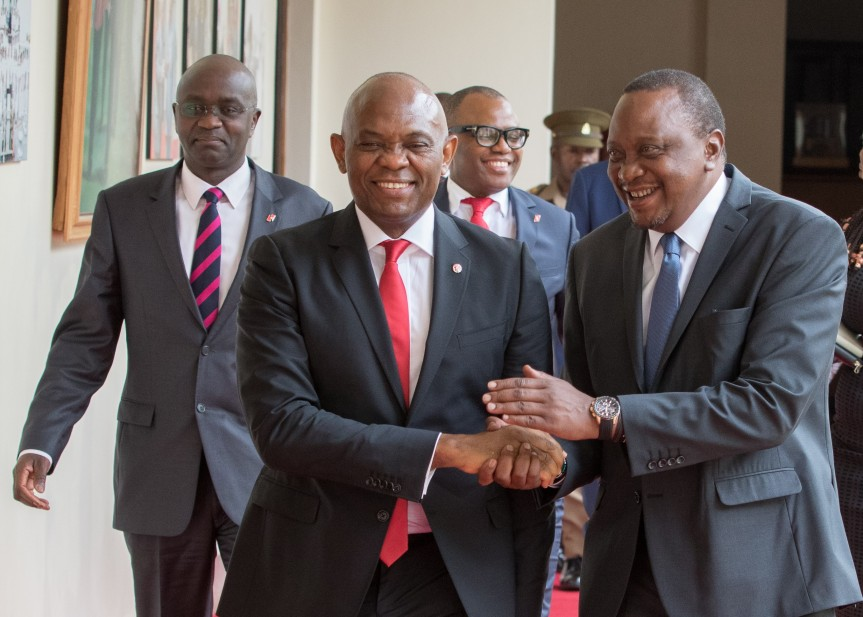 UBA Group Chairman when he call on H.E. Uhuru Kenyatta at State House during his recent visit to Kenya